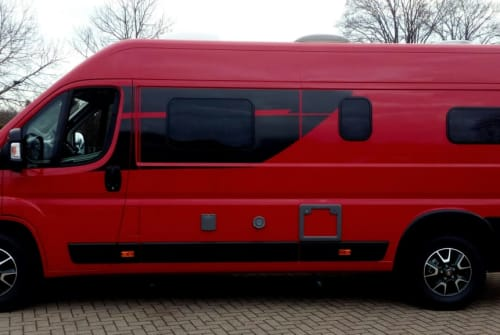 """Wohnmobil mieten in Nienburg von privat   Cliff 640, Fiat Ducato """"Der Rote"""""""