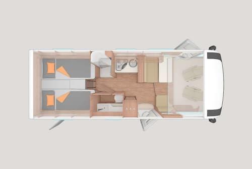 Wohnmobil mieten in Reichenberg von privat | Weinsberg CaraCore 700MEG