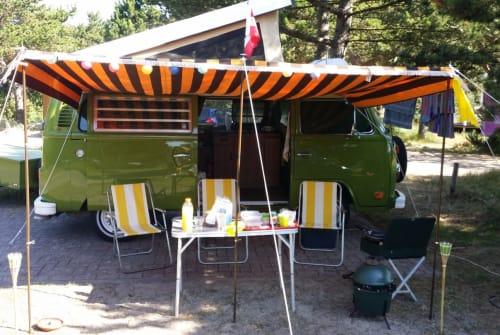 Wohnmobil mieten in Leiden von privat   Volkswagen Green Westy  T2