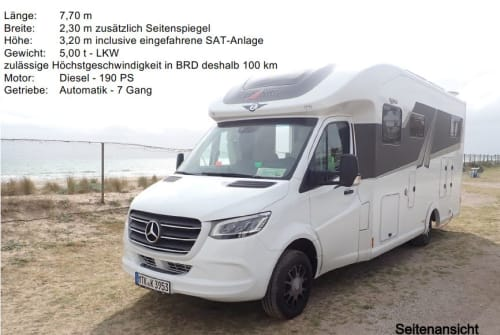 Wohnmobil mieten in Liederbach am Taunus von privat | Frankia  Letizia