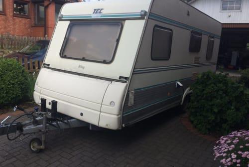 Wohnmobil mieten in Delingsdorf von privat   TEC  WOWA 5 SP Etagenbetten Vorzelt